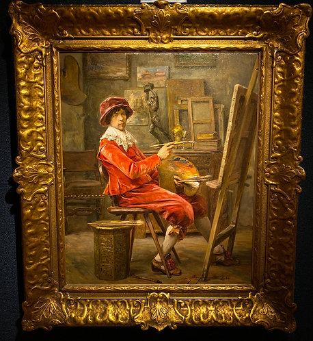 """""""Artist in his Studio"""" By: Alex De Andreis"""