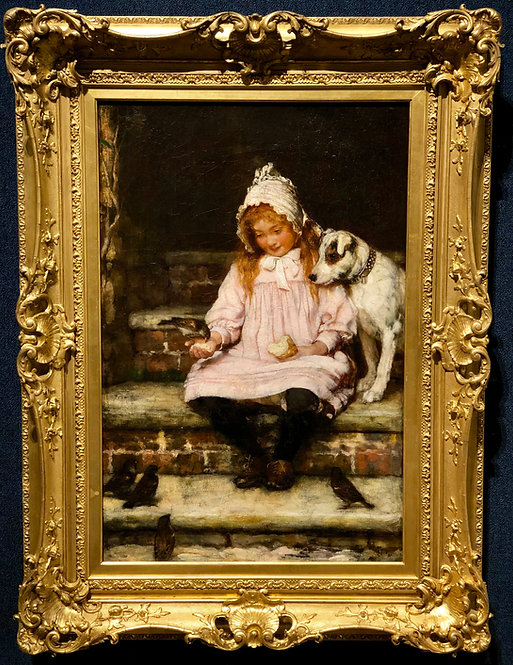 Girl and her Dog By: Thomas Copper Gotch