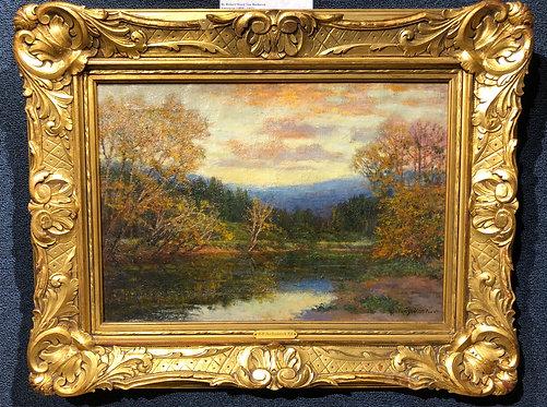 """Landscape with River at Dusk"" By: Robert Ward Van Boskerck"