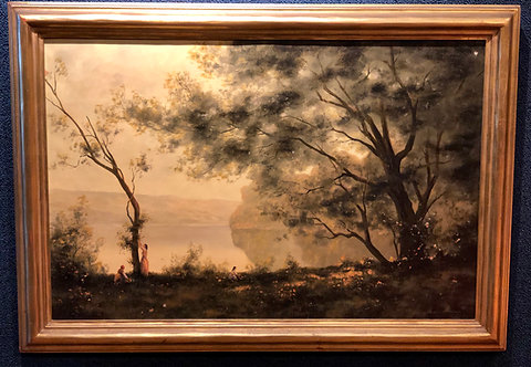 Landscape with Figures-A tribute to Corot, By: Heine Hartwig