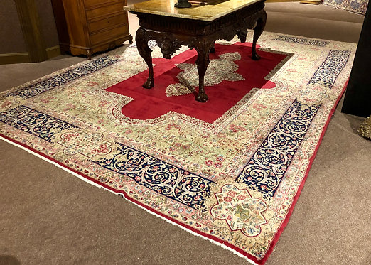 "9'10""X14'7"" Antique Persian Kerman Rug"