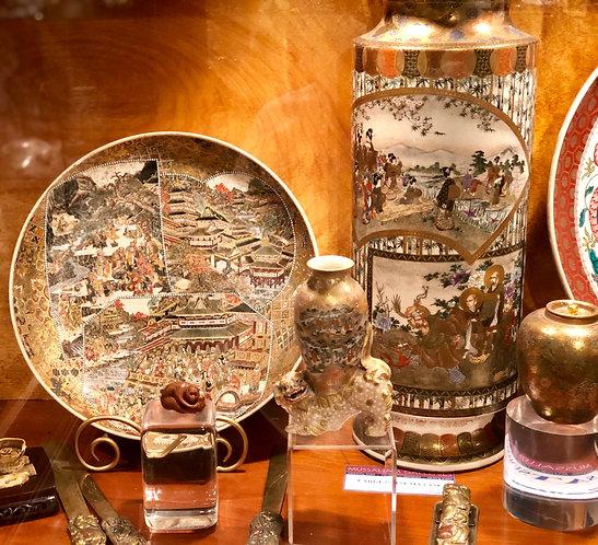 Assorted Japanese Antiques, Satsuma, etc.