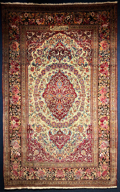 "4'9"" X 7'6"" Antique Achmed Isfahan"