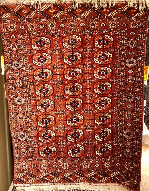 "3'9""X6' Antique Persian Bokhara"