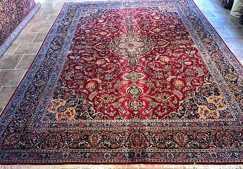 """10'7""""X14'4"""" Semi-Antique Persian Keshan"""