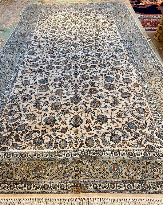 "10'1""x18'11"" Ivory Persian Keshan"