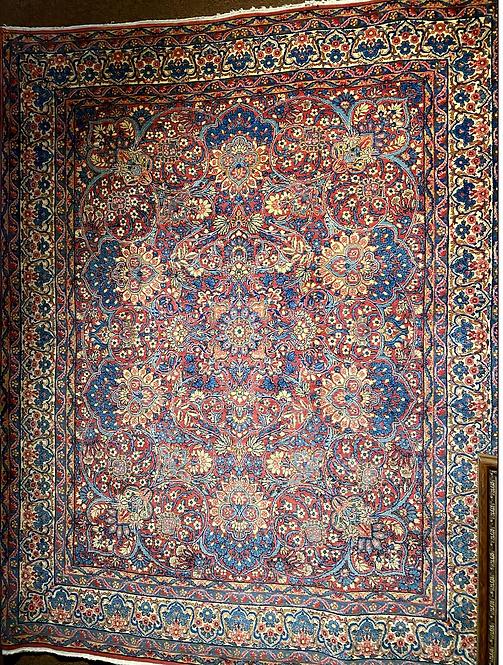 "7'10""X9'8"" Antique Persian Lavar Kerman"
