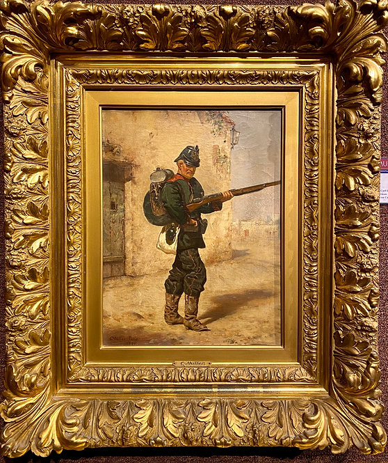 """""""Prussian Soldier in Full Gear"""" By: Charles Leopold Muller"""
