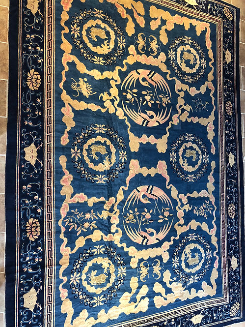 "11'2""X16'11"" LARGE RARE ANTIQUE CHINESE RUG"