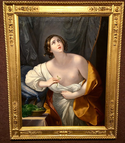 "Antique Painting ""Cleopatra"" After Guido Reni"
