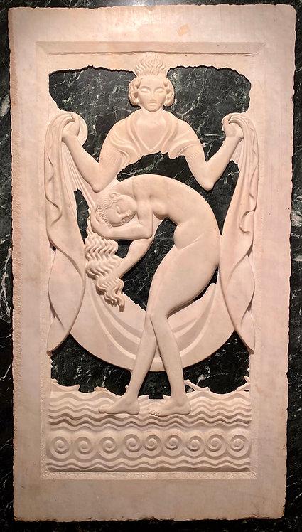Paul Manship Marble Art Deco Relief