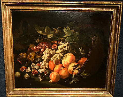 Still Life of Fruit by Giuesspe Ruoppolo