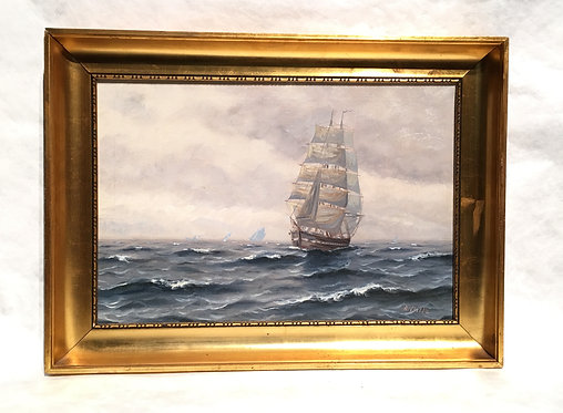 SEASCAPE SIGNED A. BILLE