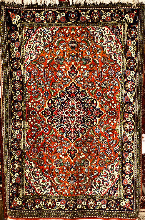 "3'6""x5'4"" Persian Red Quom"