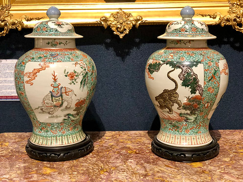 Pair of Antique Kangxi Vases