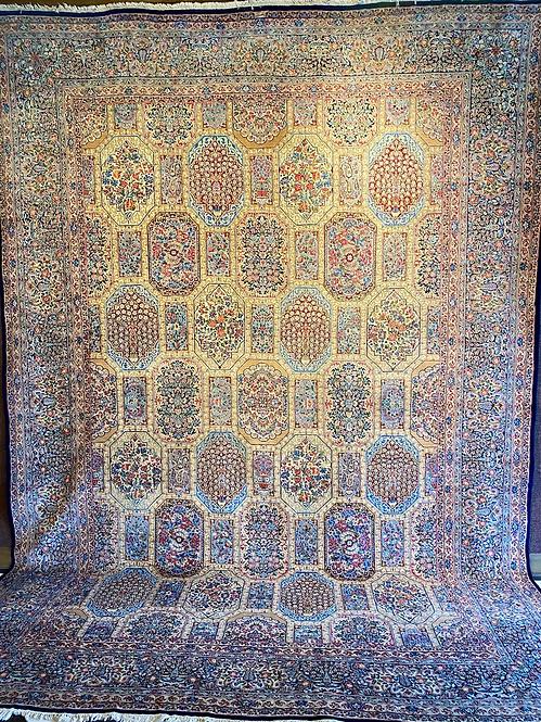 "11'5""X15'10"" Semi-Antique Persian Kerman Deluxe"