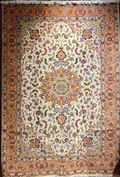 """6'7""""X9'8"""" Persian Silk & Wool Tabriz"""