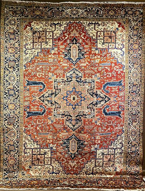 "9'10""X12'6"" Semi-Antique Persian Heriz"