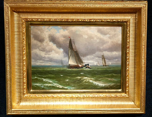 """""""Boats on the Water"""" By: Charles Henry Eaton"""