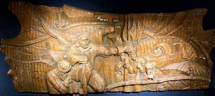Massive Wood Carving of Christopher Columbus, 19th Century, Italian
