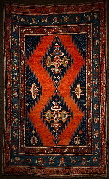 "4'5""x7'6"" Antique Kazak"