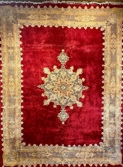 "9'X12'1"" Fine Signed Atiyeh Semi-Antique Persian Kerman"