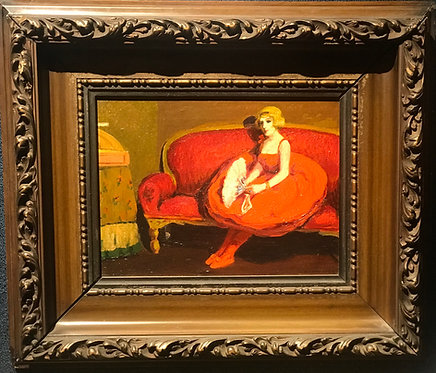 Lady on the Couch in an Interior by Eduardo Soria