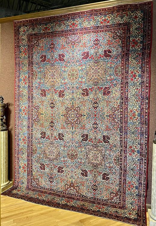 "9'2""X13' Antique Persian Lavar Kerman"