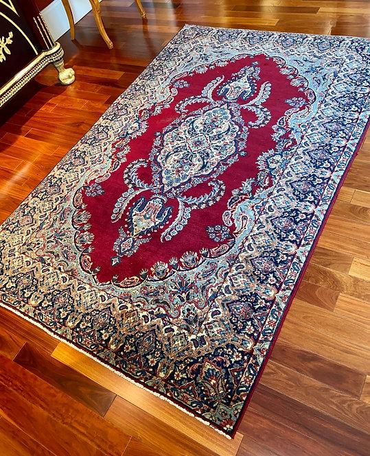 "4'8""x7'4"" Antique Red Persian Kerman"