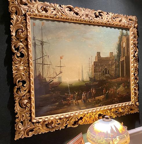 17th Century Harbor Scene By: Claude Lorrain French 1600-1682