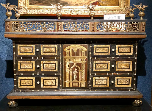 Antique Traveling Chest, 16th Century, Northern Germany