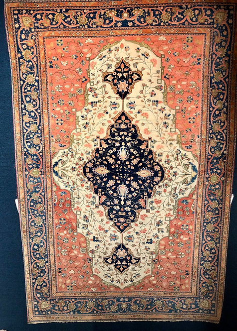 "6'9""X4'6"" Antique Persian Mohtasham Kashan"