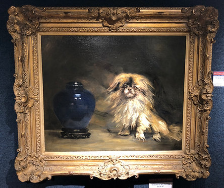 """""""Portrait of a Pekingnese Dog"""" By: George Wesley Bellows"""