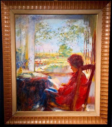 Lady on a Terrace By: Pierre Roussel