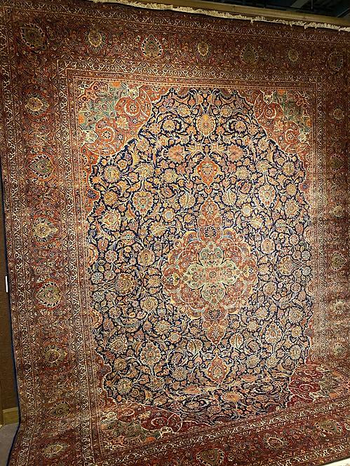 12'X16' Antique Persian Dabir Keshan