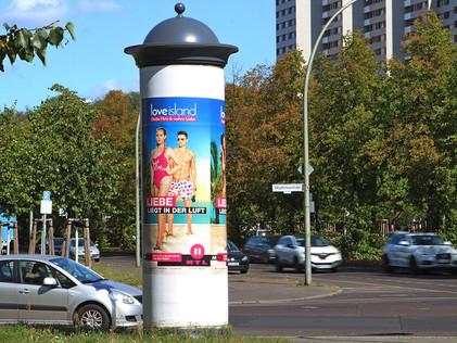 Poster Litfaßsäule