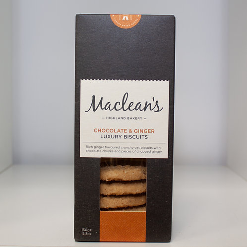 Chocolate & Ginger Luxury Biscuits (MacLeans)