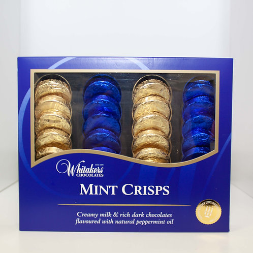 Mint Crisps by Whitakers Chocolates.
