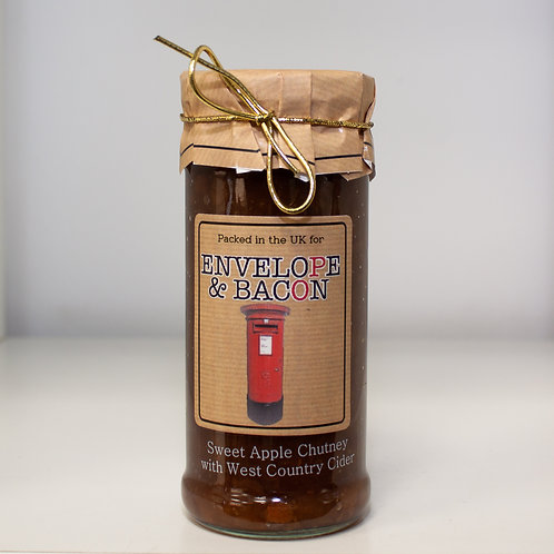 Sweet Apple Chutney with West Country Cider (Envelope & Bacon)