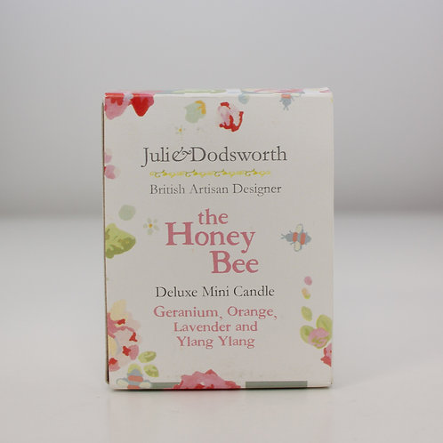 The Honey Bee - Deluxe Mini Candle - Geranium, Orange, Lavender and Ylang Ylang.