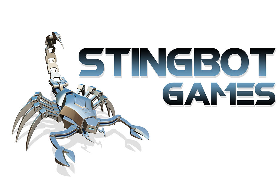 Robot Scorpion and Stingbot Games Logo