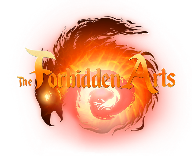 Forbidden Arts Logo of a Fire Dragon