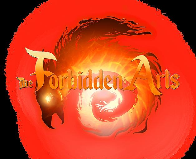 Forbidden Arts Logo of a Fire Dragon