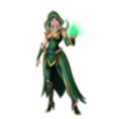 Magic Elven Forest Druid