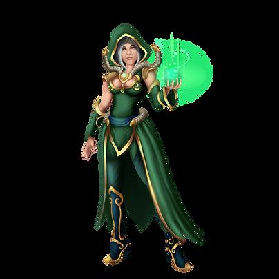 Magic Elven Forest Druid