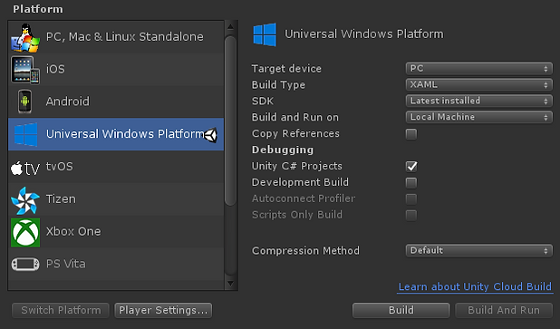 Developing, building and distributing a game for Windows UWP