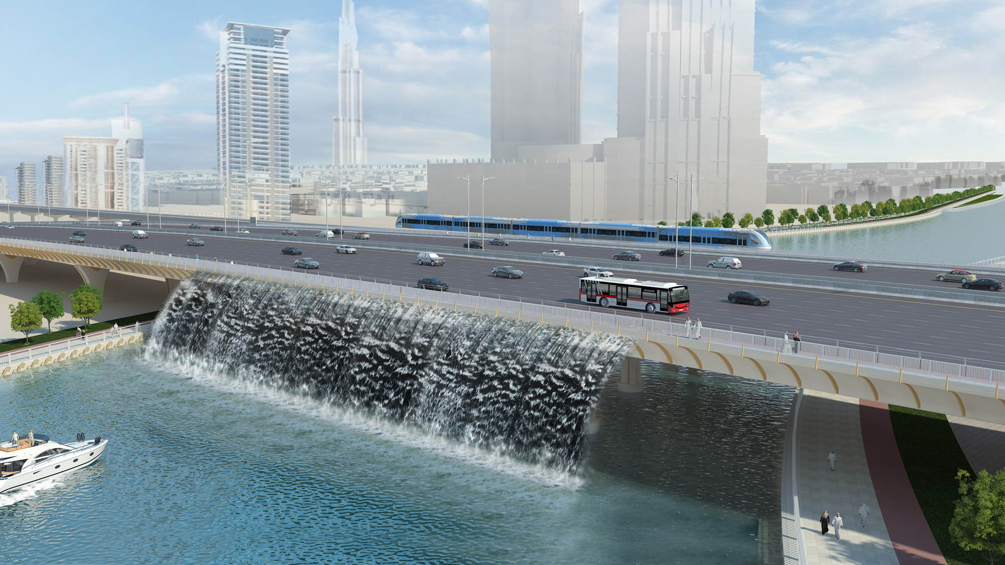 Dubai Canal Bridge