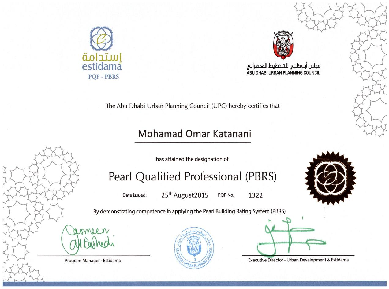 Estidama Pearl Qualified Professional