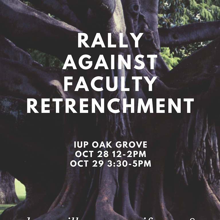 Rally Against Faculty Retrenchment