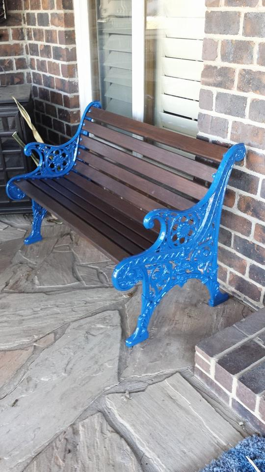 refurbishing old metal benches